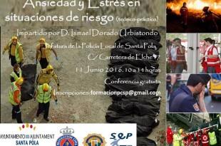 El próximo  día 11 de Junio de 2016 de 10 a 14 horas en el Salón de Actos de la Jefatura de Policía Local de Santa Pola (Alicante),